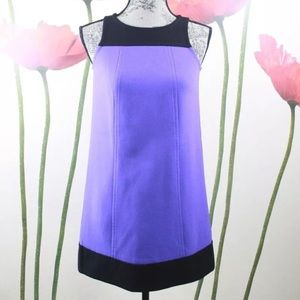 LOFT Purple Color Block Shift Sleeveless Dress